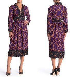 ALEXIA ADMOR Brielle Chain Print Midi Dress